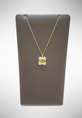 Arte Orafa white gold necklace with diamonds and yellow topaz GIRT5