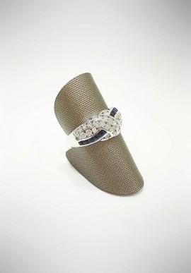 Arte Orafa white gold ring with diamonds and sapphires GIRT6