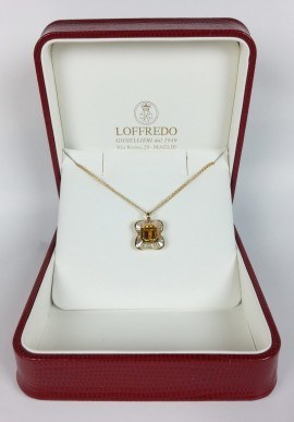 Necklace with diamonds and topaz mod. COL684
