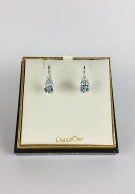 DonnaOro earrings with diamonds and aquamarine