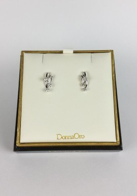 DonnaOro trilogy earrings with diamonds
