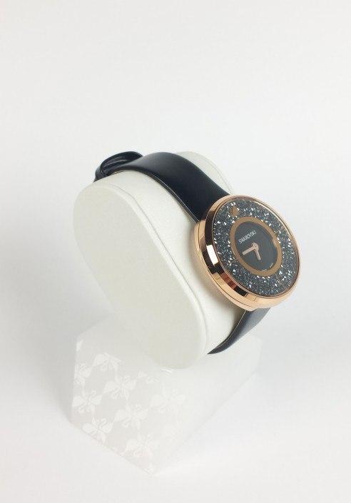 ffc9fd71b449 Swarovski Crystalline Black Rose Gold Tone Watch mod. 5045371 ...