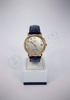 Tissot watch with gold case Ref. T71.3.456.23