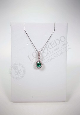 Necklace Lenti with diamonds and emerald mod. LEN1601