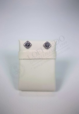 White gold Earrings Lenti with diamonds mod.LEN1603