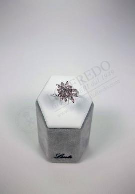 White gold ring Lenti with diamonds mod. LEN1606