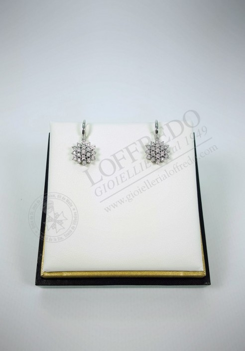 Earrings DonnaOro with diamonds mod. DFOF3584.013