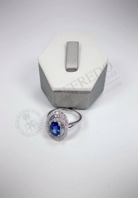Crivelli ring with diamonds and sapphire mod. CRV806