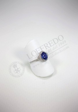 Crivelli ring with diamonds and sapphire mod. CRV807