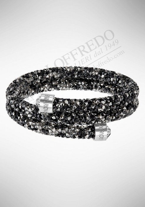 c7331ea0e Swarovski Crystaldust Bangle Double, Dark Crystals mod. 5255909 S - 5237757  M
