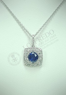 Crivelli necklace with diamonds and sapphires CVR128