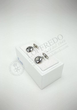 Fani silver cufflinks with diamonds G1186