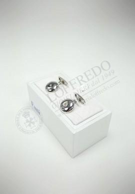 Gemelli Fani in argento con brillanti G1186