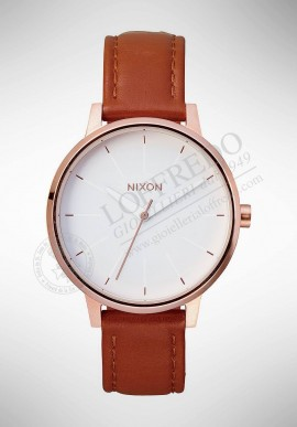"Nixon ""KENSINGTON LEATHER"" watch A108 1045"