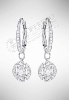 Swarovski Sparkling Dance Round Pierced Earrings, White 5272366