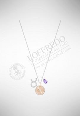 Swarovski Zodiac Pendant, Taurus, Violet 5349223