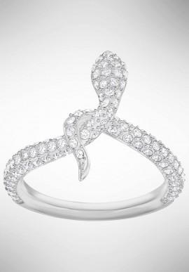 19ed2c2c57a76 Swarovski Leslie Ring, White, Rhodium...