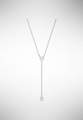 Swarovski Attract Y Necklace, White, Rhodium plating 5367969