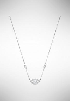 Swarovski Luckily Evil Eye Necklace, White, Rhodium plating 5368240