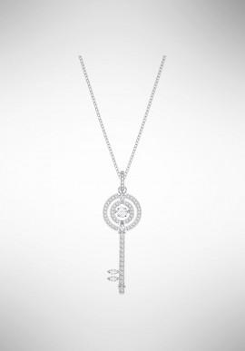 Swarovski Sparkling Dance Key Pendant, White, Rhodium plating 5368263
