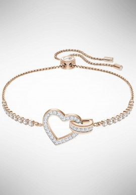 Swarovsi Lovely Bracelet, White, Rose gold plating 5368541