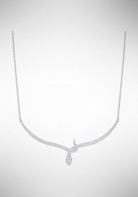 Swarovski Leslie Necklace, White, Rhodium plating 5372292