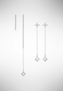 Swarovski Vittore Pierced Earring Set, White, Rhodium plating 5374830