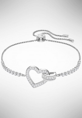 Swarovski Lovely Bracelet, White, Rhodium plating 5380704