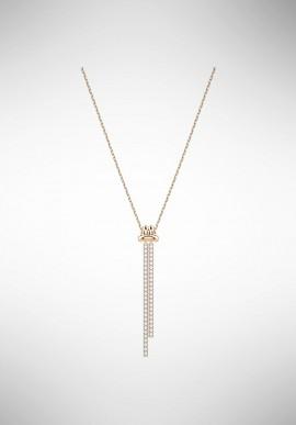 Swarovski Lifelong Y Pendant, White, Rose gold plating 5390817