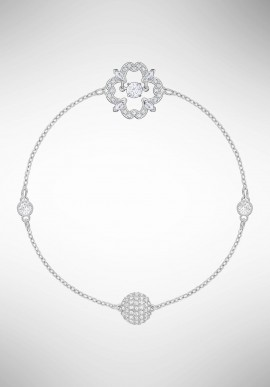 Swarovski Remix Collection Sparkling Dance Flower, White, Rhodium plating 5396228