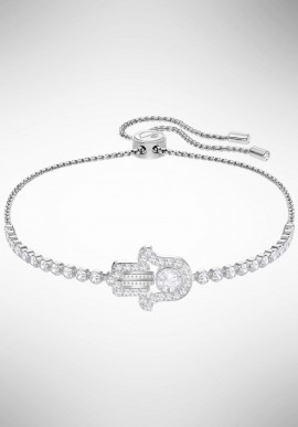 Swarovski Subtle Hamsa Hand Bracelet, White, Rhodium plating 5397699