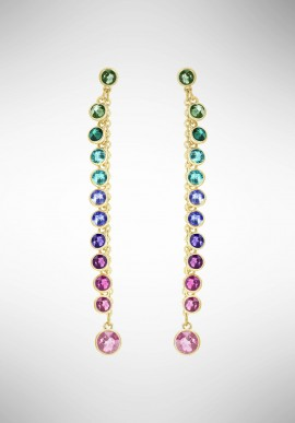 Swarovski Attract Pierced Earrings, Multi-colored, Gold plating 5402030