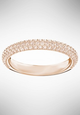 Swarovski Stone Mini Ring, Pink, Rose gold plating 5402441