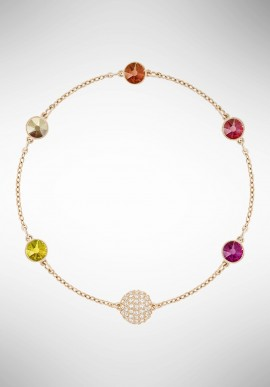 Swarovski Remix Collection Orange, Multi-colored, Rose gold plating 5403215
