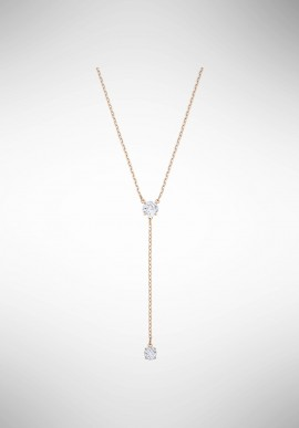 Swarovski Attract Y Necklace, White, Rose gold plating 5408440