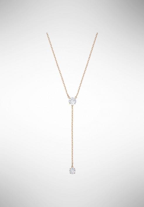 54af18c484 Swarovski Attract Y Necklace, White, Rose gold plating 5408440 -  Gioielleria Loffredo