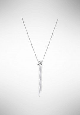 Swarovski Lifelong Y Pendant, White, Rhodium plating 5408435