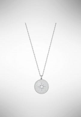 Swarovski Locket Pendant, White, Rhodium plating 5397124