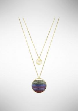 Swarovski Ginger Layered Pendant, Multi-colored, Gold plating 5397843