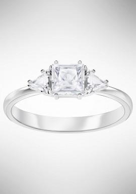 Swarovski Attract Trilogy Ring, White, Rhodium plating 5402447