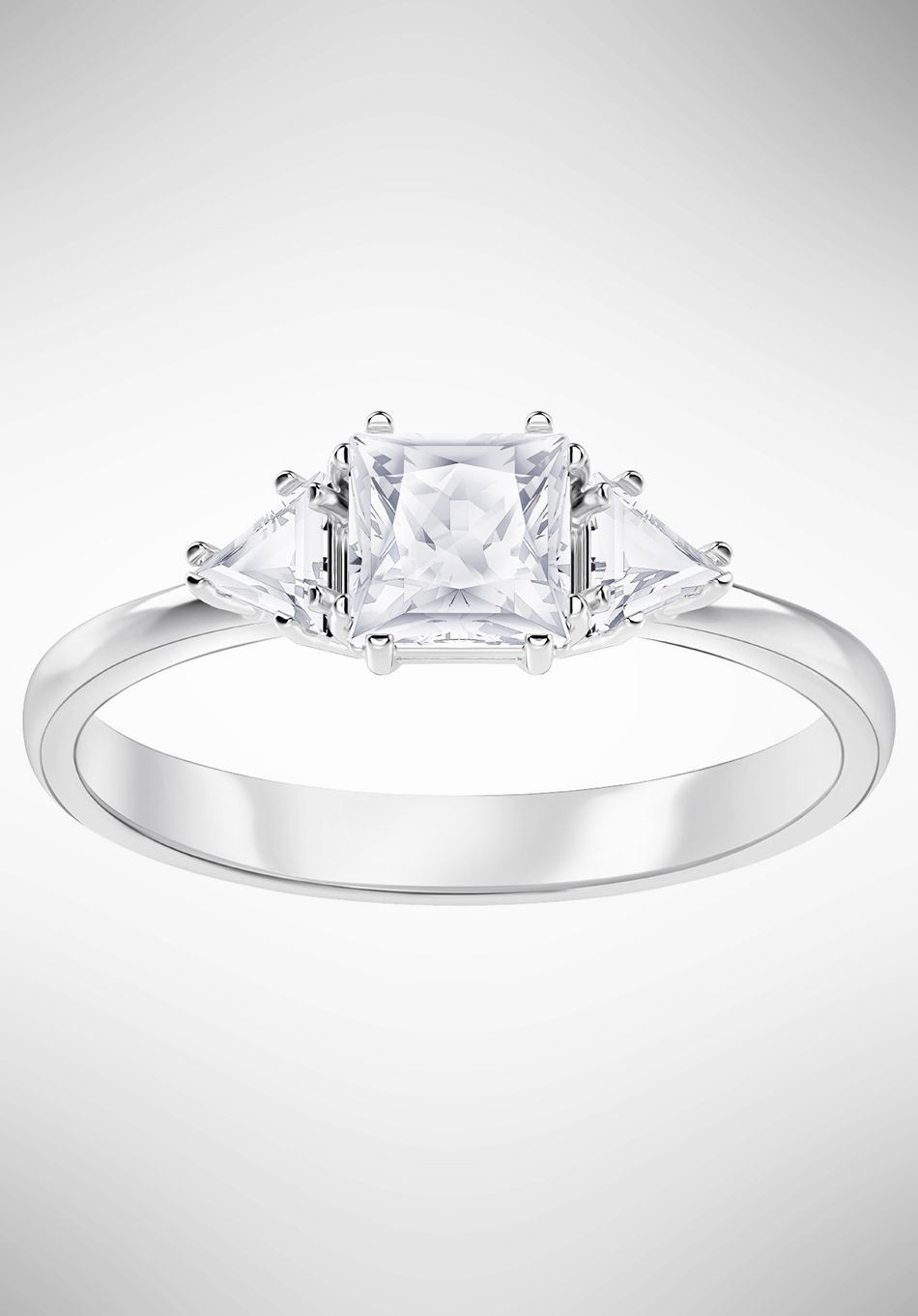 a59da98d0 Swarovski Attract Trilogy Ring, White, Rhodium plating 5402447 ...