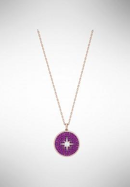 Swarovski Locket Pendant, Pink, Rose gold plating 5397125