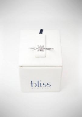 Anello Bliss Morettina oro bianco e diamanti 20061667