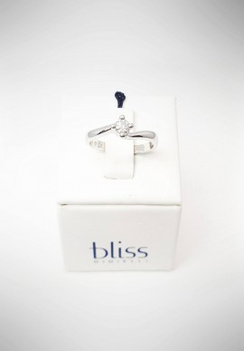 Bliss Valentino white gold ring with diamond 20069826