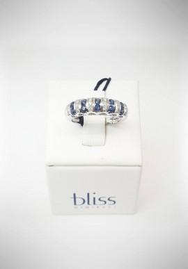 Anello Bliss oro bianco con diamanti e zaffiri 20074011