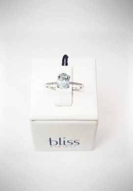 Bliss white gold ring with aquamarine 20074180