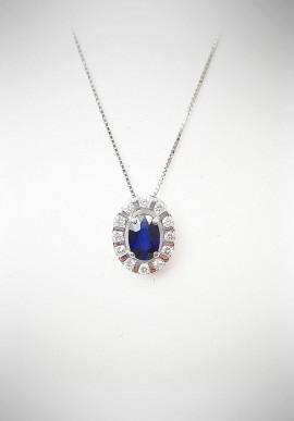 Collana Bliss oro con diamanti e zaffiro 20061792