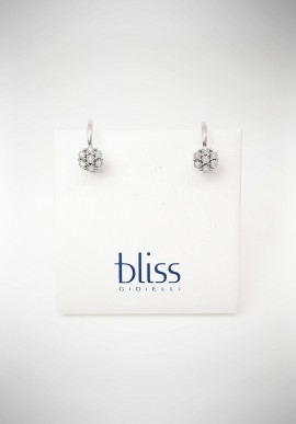 Bliss Morettina gold earrings with diamonds 20067370