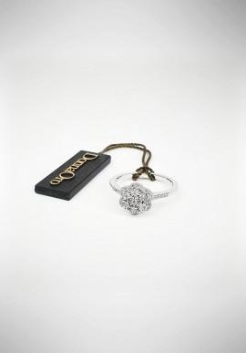 Anello DonnaOro oro bianco con brillanti DIAF5395.017