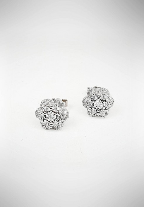 DonnaOro white gold earrings with diamonds DIOF5397.025